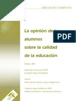 Encuesta FUHEM Opinion Alumnos Sobre Educacion 2006