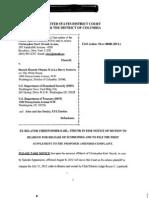 DCD (RCL) 2010 cv 00486 EX RELATOR STRUNK v OBAMA et al.  - Quo Warranto- Qui Tam - Conspiracy to violate civil rights