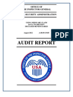 Social Security Administration inspector general's report on using Medicare claims data to identify dead beneficiaries