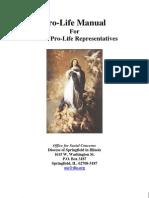 Pro Life Manual for Parish Pro Life Reps (Prolife Propaganda/Tactics)