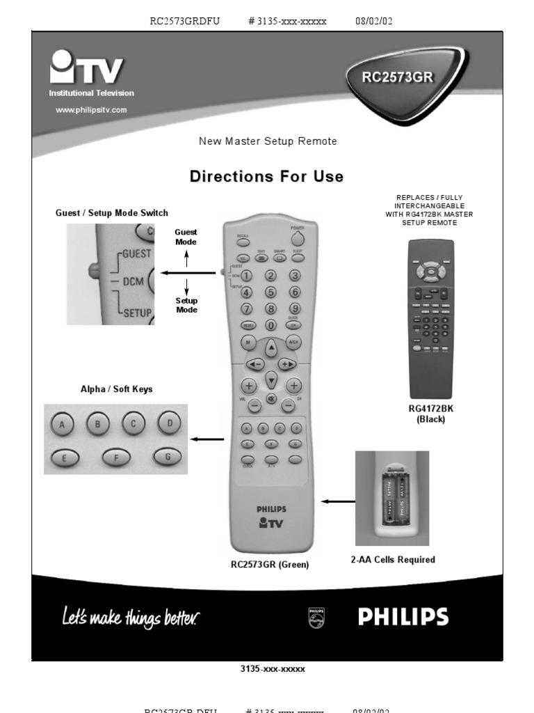 Philips Master Remote | Menu | Television | Free 30-day ...