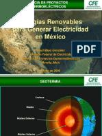 Energias Renovables Para Generar Electricidad en Mexico
