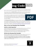 Housingcode Checklist (1)