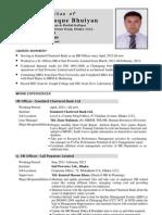 CV format uploaded by Shefaetul June-2012