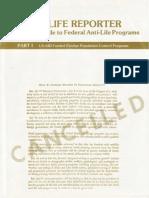 The Pro-Life Reporter (Antiabortion & Anti-Contraceptive Propaganda circa 1977)