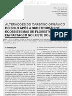 Alterações do carbono orgânico do solo após a susbstituição de ecossistemas de floresta em pastagem no leste do Acre