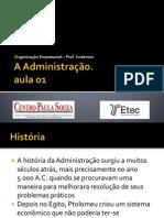 O.E. - A administração (Aula 1)