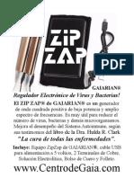 Ziz Zap Zapper de GAIARIAN® Basado en el circuito original de la Dra. Hula Clark en su libro