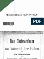 Pranaitis Das Christentum Im Talmud Der Juden Oder Die Geheimnisse Der Rabbinischen Lehre