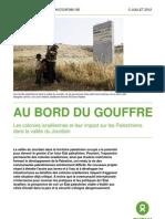 Oxfam Colonies Israel Impact Palestiniens Vallee Jourdain