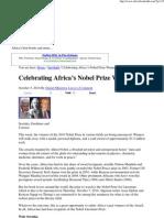Celebrating Africa's Nobel Prize Winners