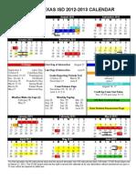 STISD Calendar 2012-2013 Color Board Approved