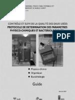Protocole Determination Parametres Physicochinmique Bacteriologique