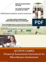 Accion Camel Financial Assessment Instrument for Microfinance2264
