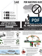 Brochure contra el Incinerador