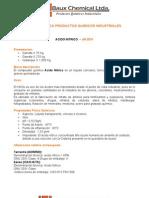 Ficha Tecnica Productos Quimicos Industriales