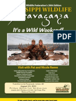 2012 Mississippi Wildlife Extravaganza Schedule & Program