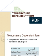 Handout Version (Temperature Dependent Term to Kinetic Models
