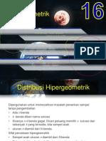 16. Distribusi Hypergeometrik