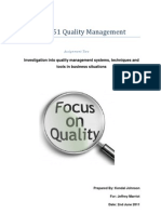 BSNS 6351 Quality Management Assignment Two