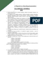 Reglamento Interdepartamentales 2012