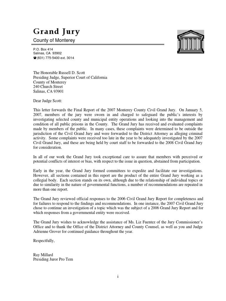 Monterey County 2007 Civil Grand Jury, Final Report   9 1 1