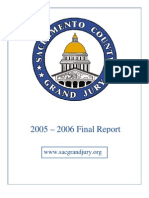 Sacramento County 2005-06 Grand Jury, Final Report