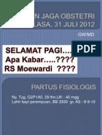 Lap Jaga Obs Selasa 31 Juli 2012 Gw&Md
