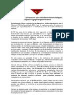 Comunicado CUC violación justicia 030812