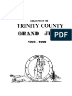 Trinity County 1998-99 Grand Jury, Final Report