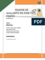 Practica 1 Compensador de Tipo Pasivo de Adelanto de Fase