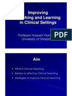 Improving Teaching and Learning in Clinical Settings_hossam Hamdy