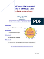 A Little Known Mathematical Property of a Straight Line