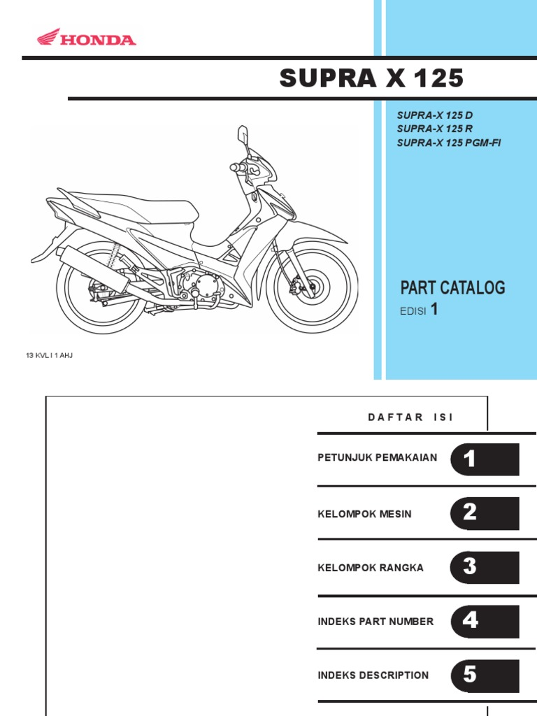 Indo honda supra x 125 series part catalog asfbconference2016 Gallery