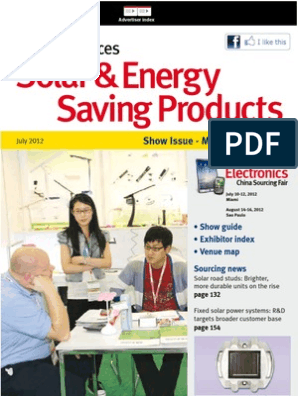 Solar Energy Saving Products Jul12 Light Emitting Diode