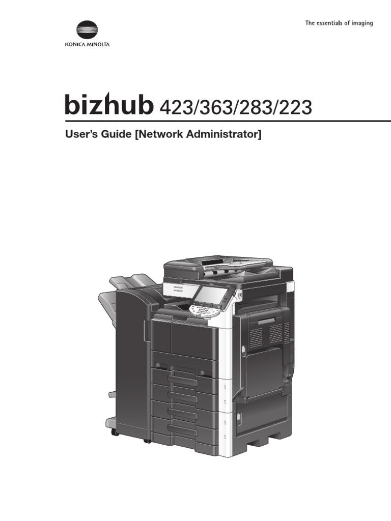 konica minolta bizhub 223 bizhub 423363283223 network administrator rh scribd com Konica Minolta C353 Manual konica minolta bizhub c353 operating manual