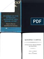 Paul a. Baran, Paul M. Sweezy - Monopoly Capital an Essay on the American Economic and Social Order (1966)