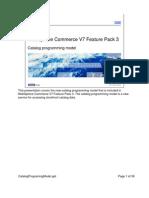 WebSphere Commerce V7 Feature Pack 3. Catalog Programing Model