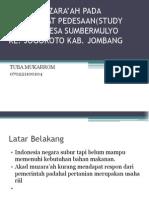 KAJIAN MUZARA'AH PADA MASYARAKAT PEDESAAN(STUDY KASUS DI DESA