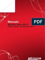 Alice ADSL WFI Modem - Alice Gate VoIP 2 Plus WiFi - MANUALE USER GUIDE Modem Pirelli Manuale