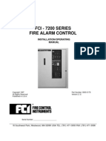 FCI 7200 Fire Alarm Manual