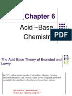 Acid –Base Chemistry