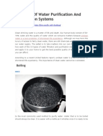 13 Types of Water Purification and Filteration Systems