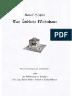 Rudolf Geissler - Der ländliche Wohnhaus