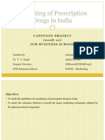 Marketing of Prescription Drugs in India