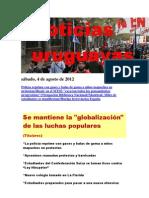 Noticias Uruguayas sábado 4 de agosto del 2012