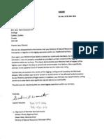 2012-07-04 Letter to Charest From Gabriel Wawatie