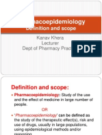 Definition and Scope Pharmacoepidemiology