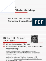 Relational and Instrumental Understanding - Powerpoint