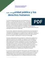 seguridad ùblica y derechos humanos